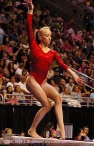 Gymnast Nastia Liukin on Beam